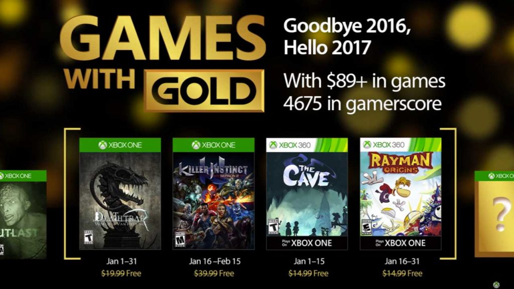 Xbox Games with Gold for January 2017