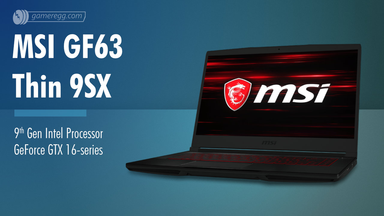 MSI GF63 Thin 9SX